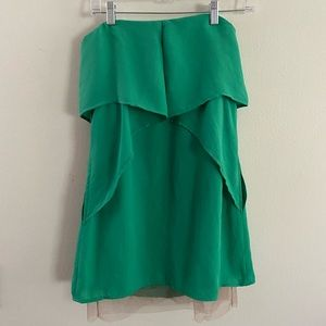 BCBG Maxazria Green Runway Strapless Dress